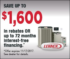 lennox rebate interest free financing