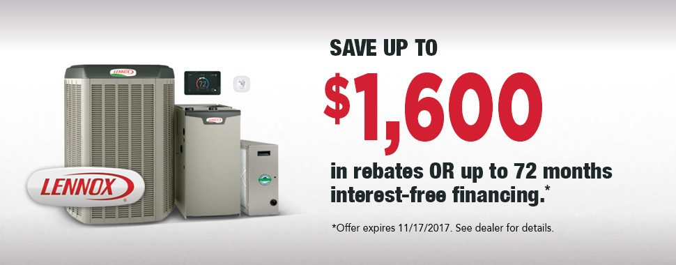 Special Lennox Rebate Interest Free Financing
